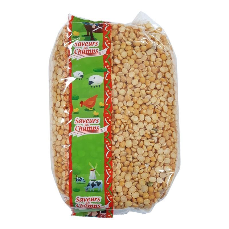 Pois casses jaunes 1kg-Légumes secs-panierexpress