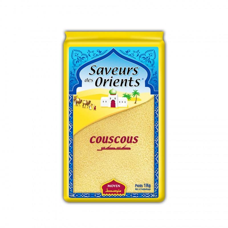 Couscous moyen 1kg saveurs des orients-Semoules et Couscous-panierexpress