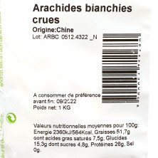 ARACHIDE BLANCHIE/EMONDEE 1 KG