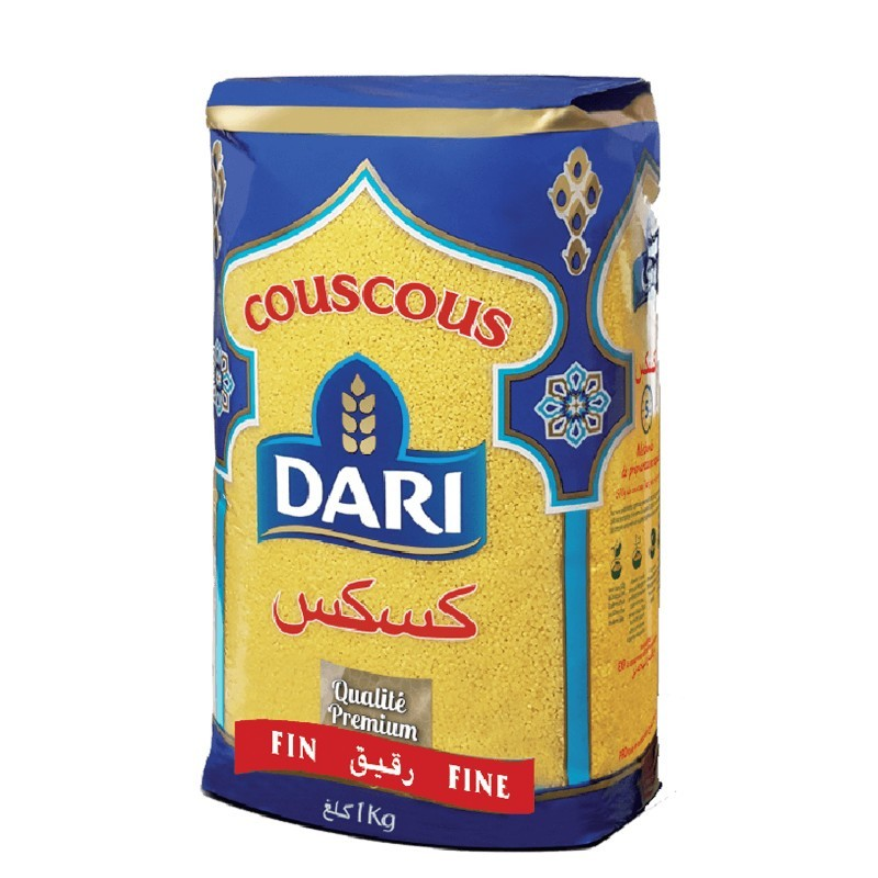Couscous dari fin 1kg-Semoules et Couscous-panierexpress