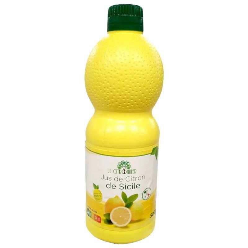 Jus de citron italie 500 ml-Huiles, Vinaigres, Vinaigrettes, et Jus de Citron-panierexpress