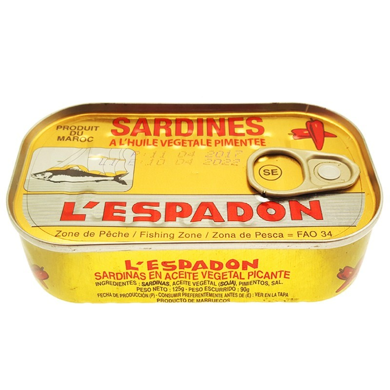 Sardines à l'huile pimentée 125g l'espadon-Sardines-panierexpress