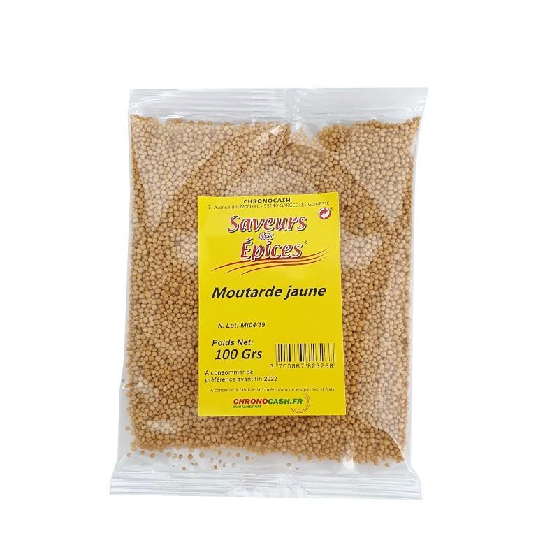 Moutarde jaune graine 100g-Epices sel & poivres-panierexpress