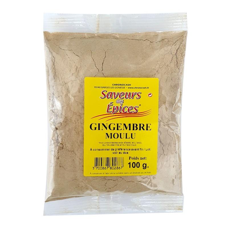 Gingembre moulu 100g-Epices sel & poivres-panierexpress