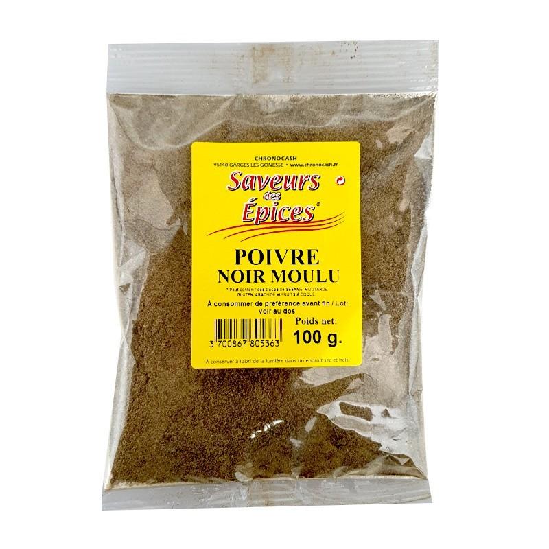 Poivre noir moulu 100g-Epices sel & poivres-panierexpress